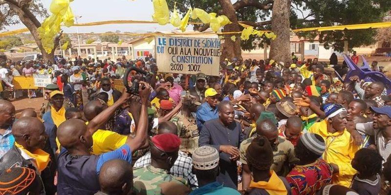 Le candidat Diakaria Koulibaly accueilli par une foule en liesse