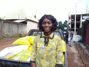 Aicha Soumah, trésorière de l'initiative du Téléthon de la fondation Diaka Camara pour l'éducation en Guinée