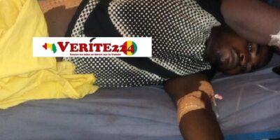 Boubacar Diallo, blessé par balle