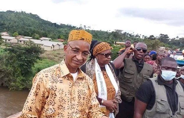 Cellou Dalein Diallo lors de sa tournée électorale dans la ville de N'zérékoré