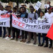 Des étudiants guinéens de Grenoble lors d'une manifestation pour réclamer justice pour Mamadou Barry (image d'illustration)