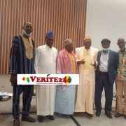 Des membres de la Coalition Nationale pour la Paix et l'Entente en Guinée (CONAPEG)