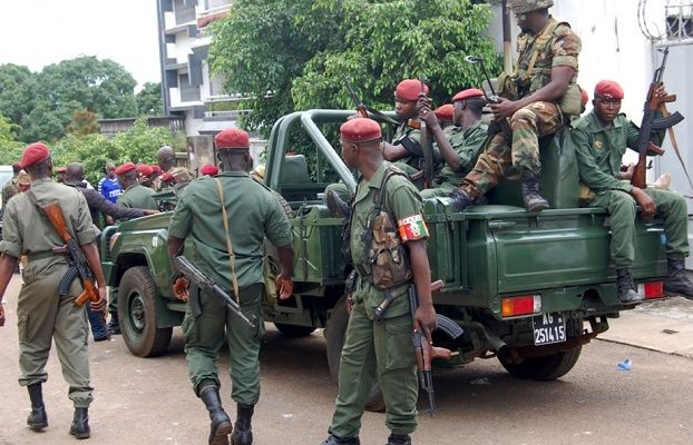 Des militaires bérets rouges de la garde présidentielle (photo d'illustration)