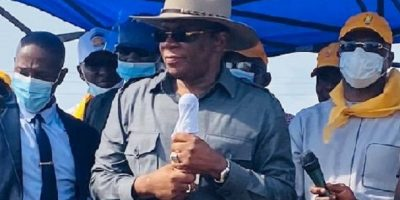 Kassory Fofana, premier ministre lors d'un meeting