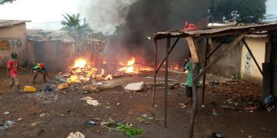 Le PA a été saccagé lors d'une violente manifestation à Gnariwada