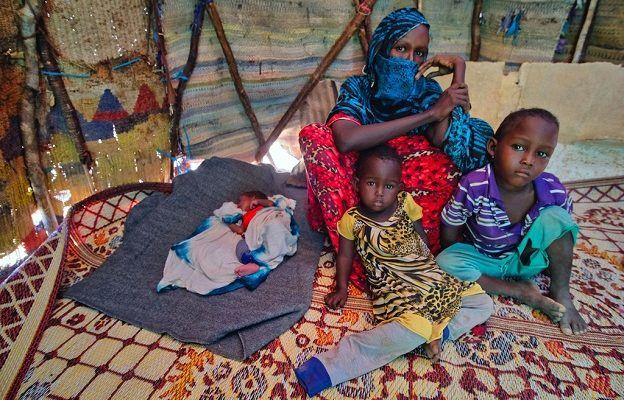 Une famille des réfugiés (photo d'illustration)