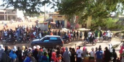 Une foule en liesse en train de célébrer la victoire de Cellou Dalein Diallo à Labé