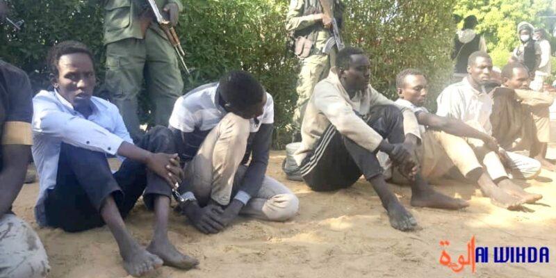 Des bandits tchadiens après leur arrestation
