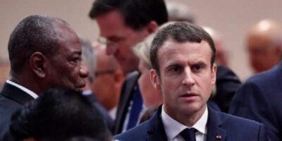 Emmanuel Macron et Alpha Condé