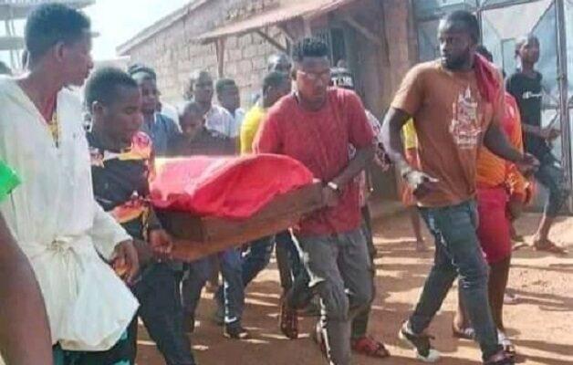 La dépouille mortelle de Boubacar Baldé, coordinateur du FNDC-Sonfonia