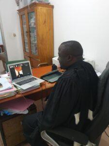 Me Pépé Antoine Lama lors de l'audience de la Cour de justice de la CEDEAO sur le dossier des victimes de Zogota
