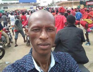 Saikou Yaya Diallo, membre du Front national pour la défense de la constitution (FNDC)