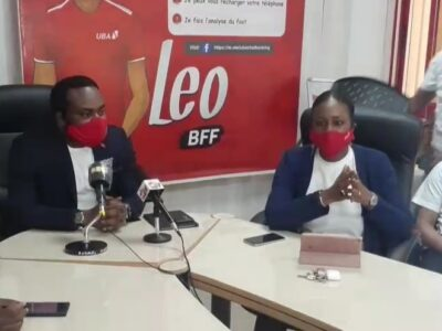 Tony Odeigah, Directeur général de UBA Guinée avec Madame Diallo Fanta Kaba, chargée de communication et du marketing