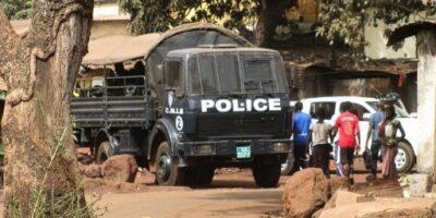 Un camion de police (image d'illustration)