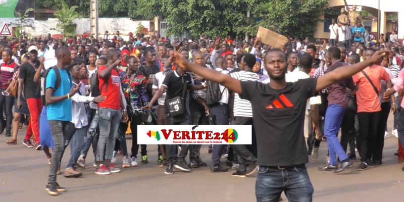 Les étudiants de l'université Général Lansana Conté de Sofonia manifestent