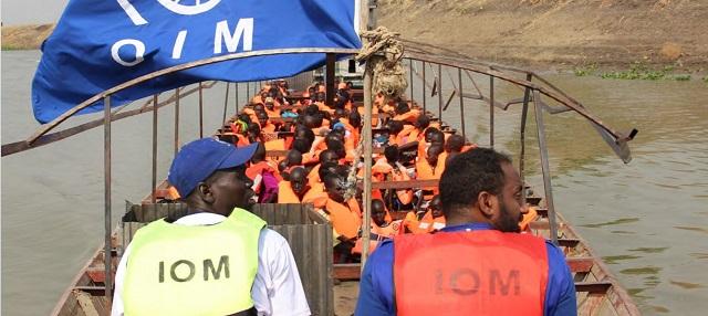 La relocalisation par bateau, qui est le seul moyen de transport à partir du point d'entrée de Tergol Akobo, a commencé le 18 février, en Ethiopie
