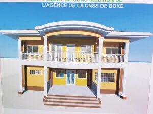 Le plan de la construction de l'Agence CNSS-Boké