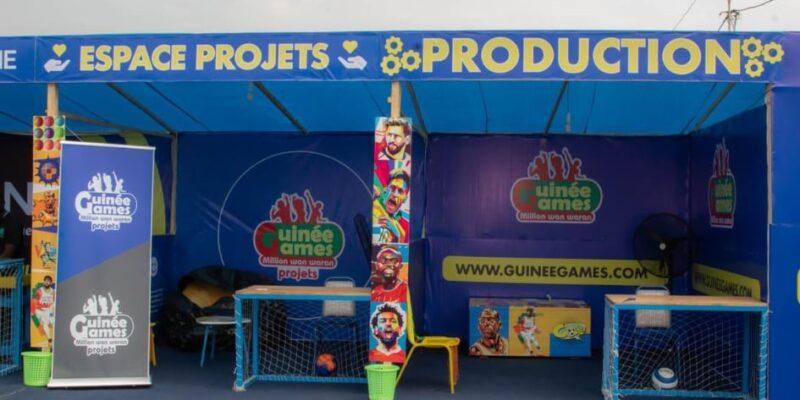 Le stand de Guinée Games à la Foire internationale de Guinée (FIG)