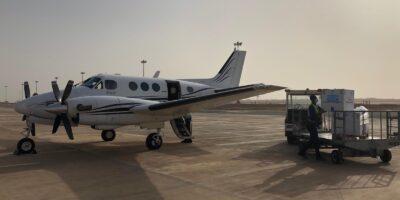 Un avion affrété par UMS transportant des vaccins anti-Ebola