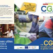 Un dépliant des Centres de Gestion Agréés (CGA)