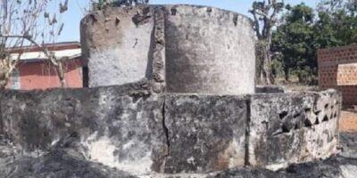 Un feu mystérieux a ravagé cette case à Daralabé