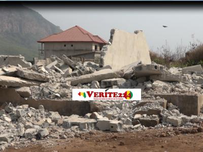 Une maison détruite par les autorités préfectorales de l'habitat à Kènèndé