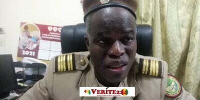Le Colonel Layali Camara, Directeur national des eaux et forêts lors d'un entretien avec Verite224